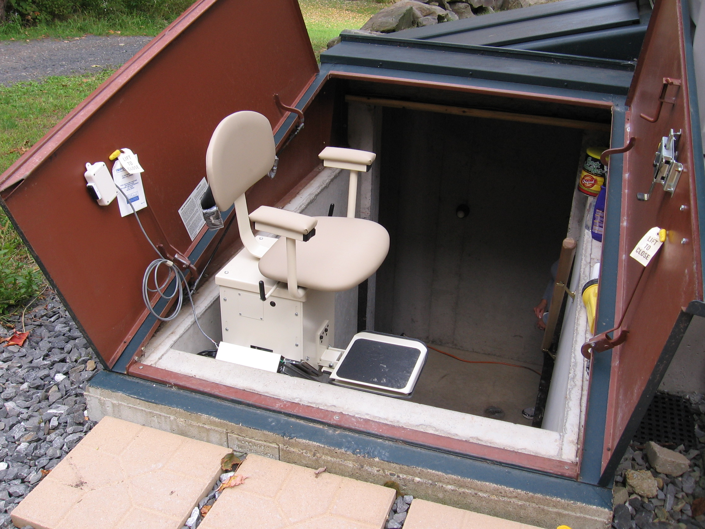 Summit Stair Lift Installed On Basement Stairs