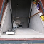 Stair lift for basement stairs