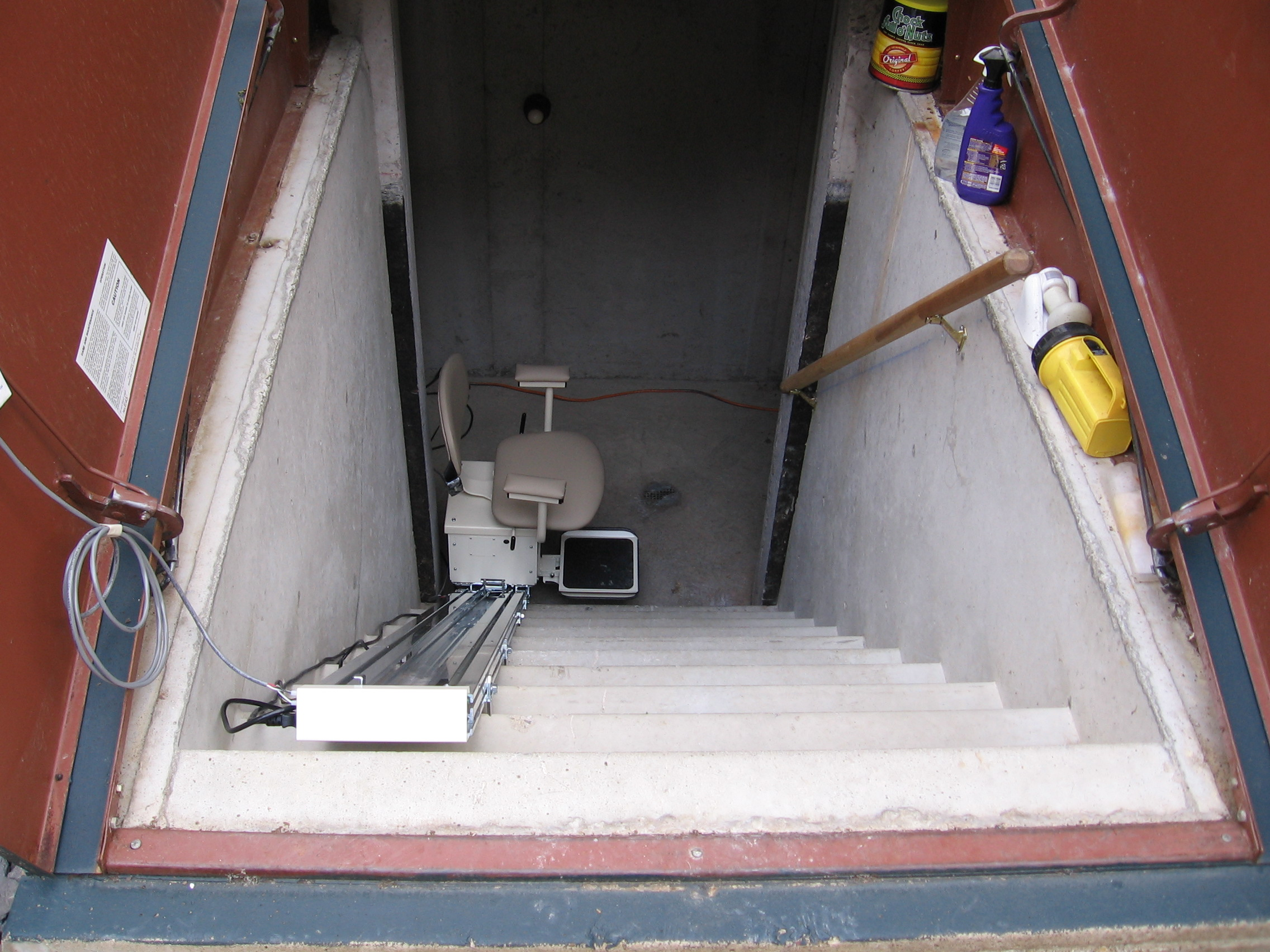 Genial Stair Lift For Basement Stairs